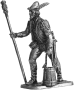 Артиллерист с банником и ведром. Зап. Европа, 15 век