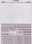 WWII German numbers for vehicles. Variant 1. -White-